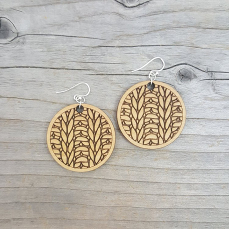 Knitting Pattern Earrings