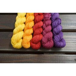 Merino Single Verlaufsset Sunset